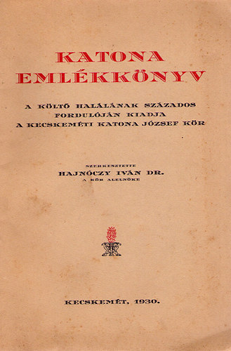 Emlékkönyv 1930
