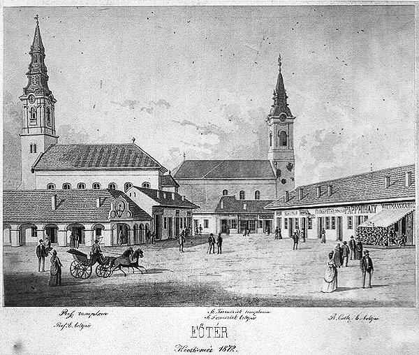 Kecskemét főtér 1872